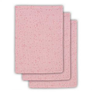 Jollein Hydrofiel washandje Mini dots blush pink (3pack)