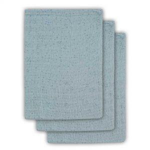 Jollein Hydrofiel washandje Mini dots stone green (3pack)