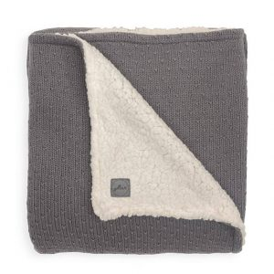 Jollein deken teddy 75x100cm Bliss knit storm grey